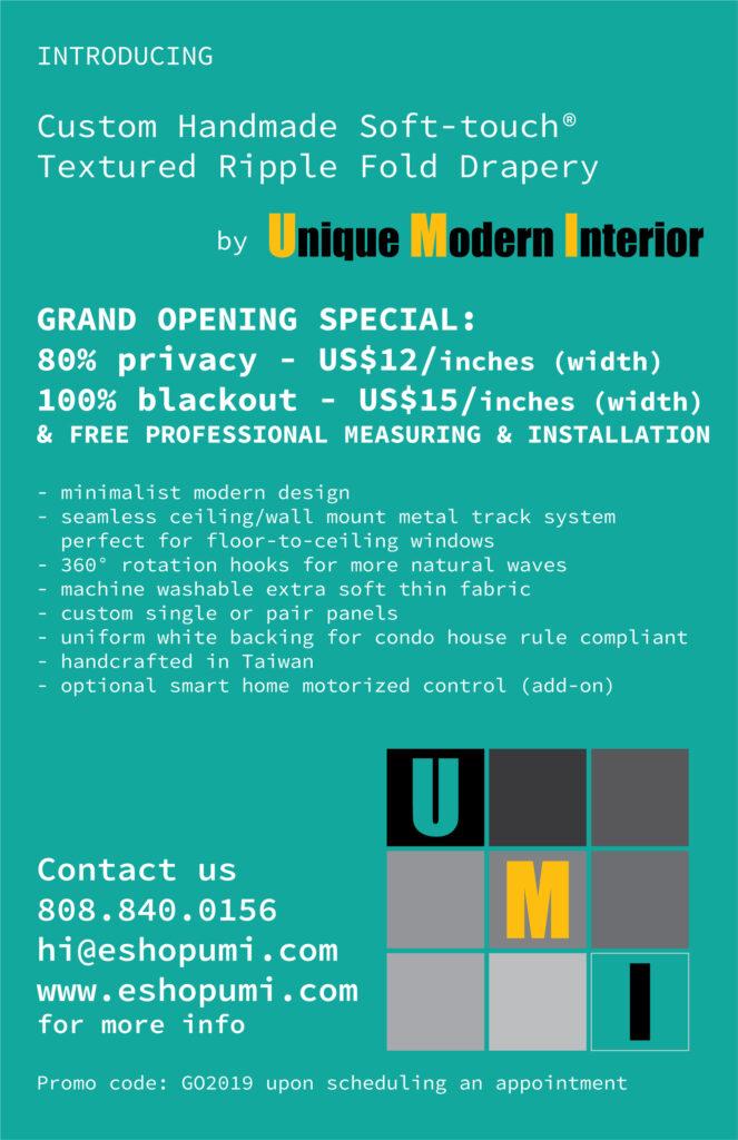 Custom Handmade Soft-touch® Textured Ripple Fold Drapery by UMI